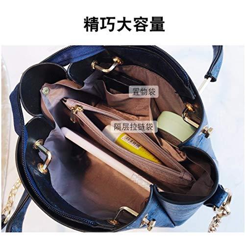 bleu xkb blanc à Sac en cuir bandoulière Yisanling d7AO0wxqO
