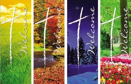ATC001 X-Stand Banner: Welcome Series Set of 4: Includes WS692-WS696