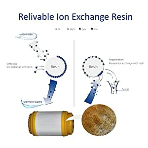 Wagen Hard Water Filter Shower System, Ion-exchange Resin Removes Chlorine Soften and Purify Water, Solution for Dry Hair and Skin, EZ Installation