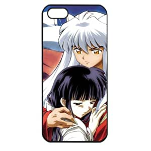 InuYasha Manga Anime Comic Kikyou Apple iPhone 5 TPU Soft Black or White case (Black)