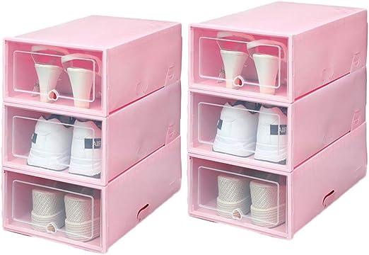 YFairy – Caja de plástico para Zapatos, 6 Unidades, apilable ...