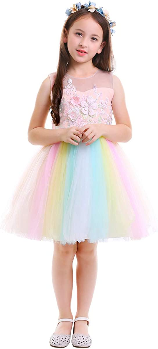 GIRLS ULTIMATE UNICORN DRESS WITH HEADBAND OUTFIT SET PARTY CLOTHING WINTER UK