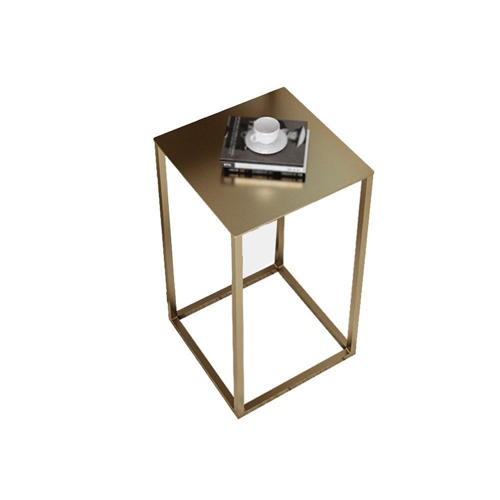 CSQ テーブル、コーヒーテーブル、サイドテーブル、ソファサイドテーブルベッドサイドテーブルライティングデスクドレッシングテーブルダイニングテーブルアイロン材料サイドテーブル30-74CM コー\u200b\u200bヒーテーブル (色 : ゴールド, サイズ さいず : B) B07DWXHZM7 B|ゴールド ゴールド B