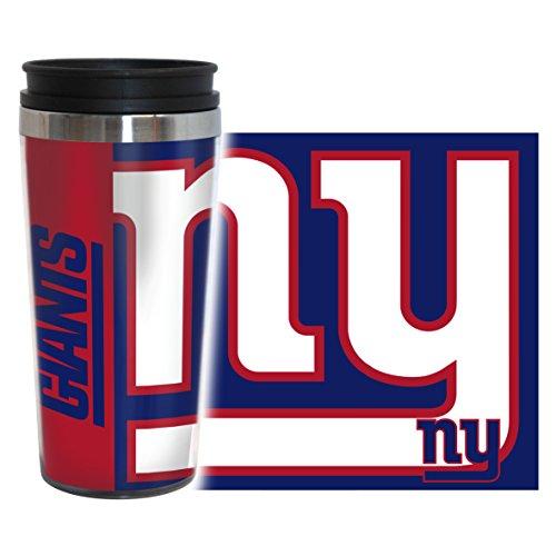 NFL New York Giants Hype Travel Tumbler, 16-ounce, Blue