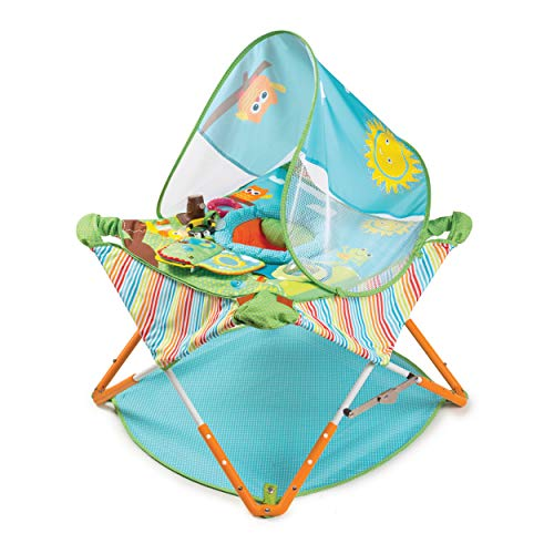 Summer Pop 'n Jump Portable Activity Center – Lightweight Baby Jumper with Toys for On-The-Go and at Home, Compact Fold…