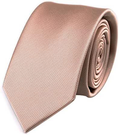 Mens Skinny Tie Wedding Business Necktie with Stripe Textured 6 cm / 2.4inches- Multi Colors