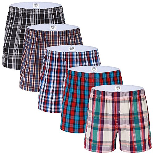Red Plaid Woven Boxer - 4