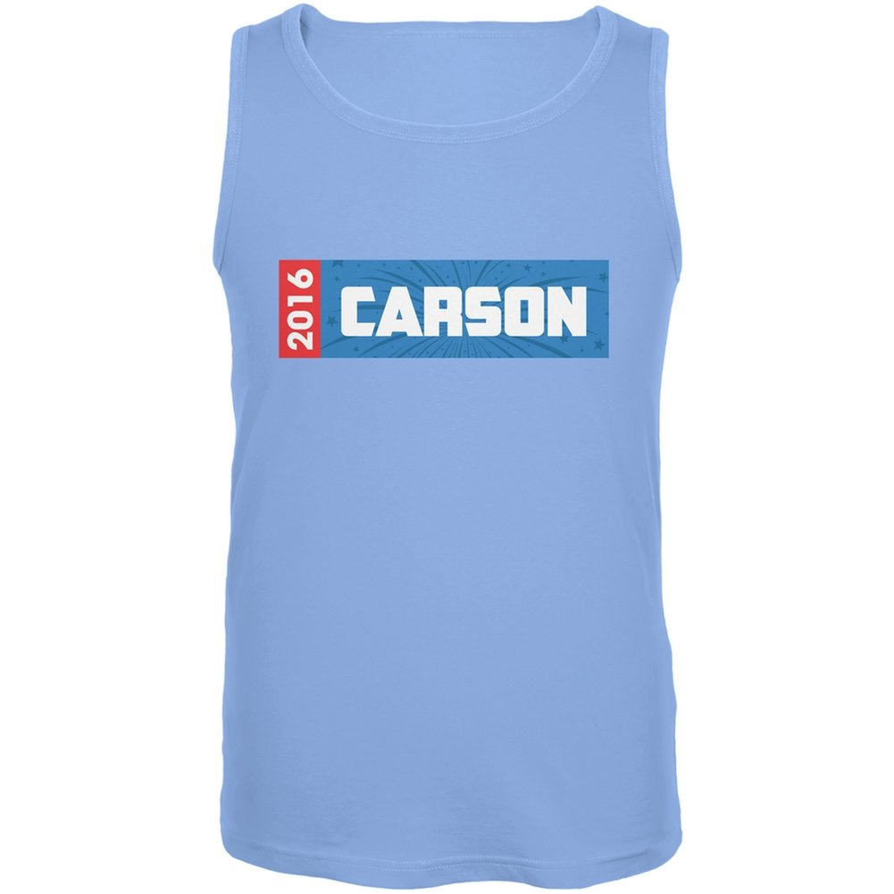 Old Glory Election 2016 Carson Rectangle Logo Carolina Blue Adult Tank Top
