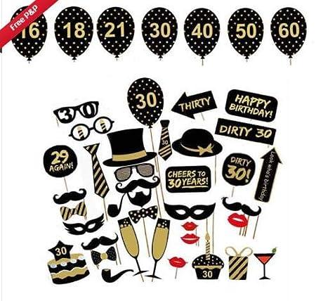 Josopa Accesorios de fotomatón de cumpleaños Kit de ...