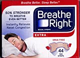 Breath Right - Extra Strong Nasal Strips - Pack of 3 Total 132 Strips