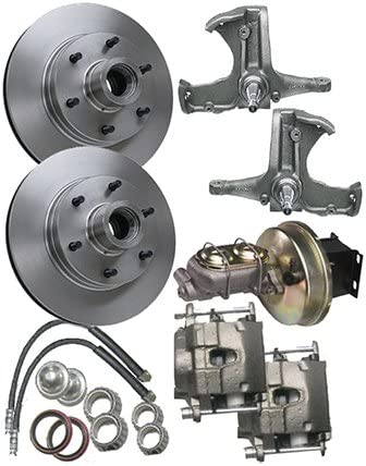 McGaughys Chevy C10 1963-66 Stock Spindles 6 Lug Power Disc Brake Kit 9 Bst