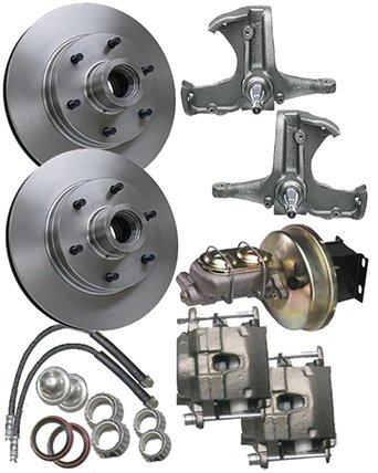 - McGaughys Chevy C10 1963-66 Stock Spindles 6 Lug Power Disc Brake Kit 9