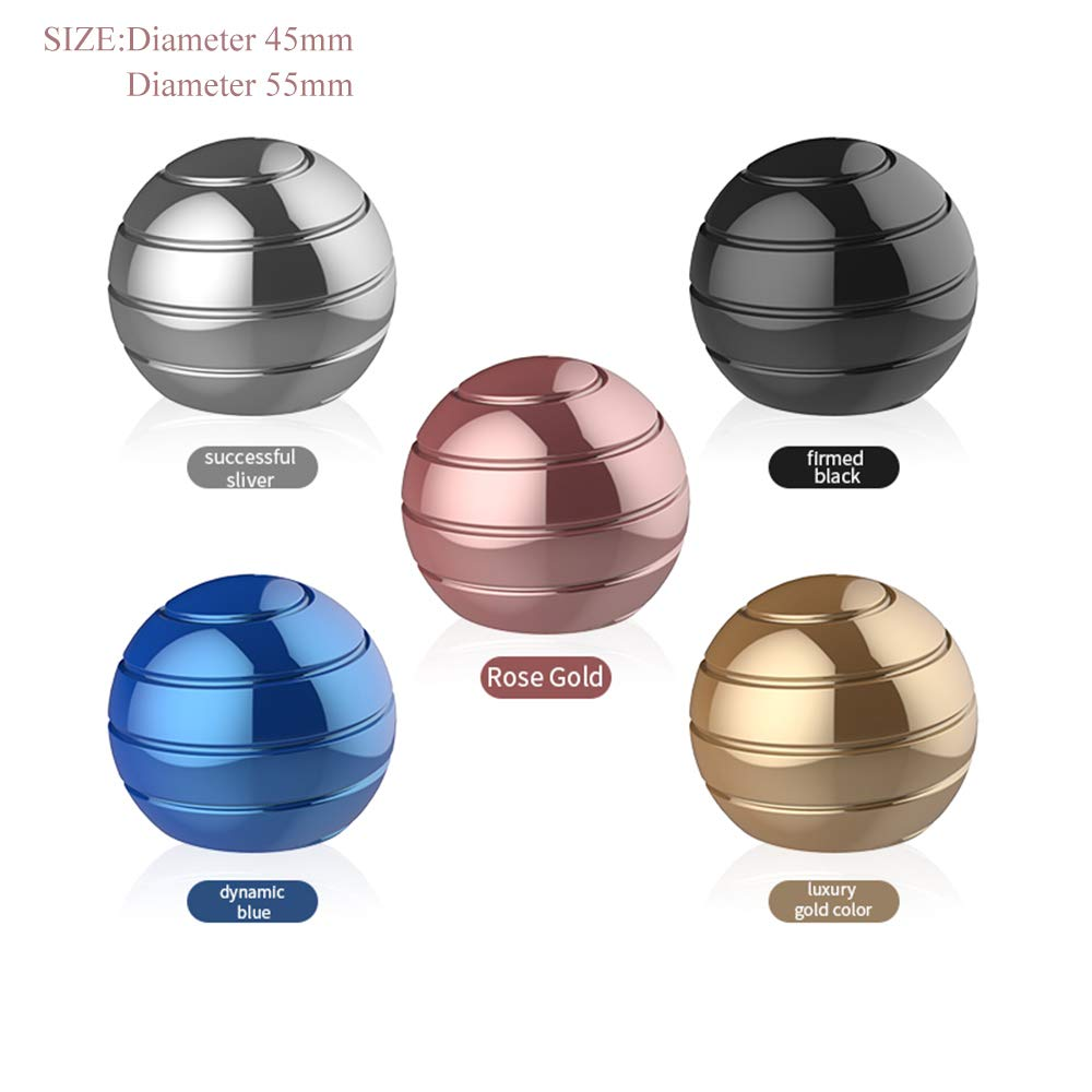 Pasizoe Home Office Desk Fidget Toy Visual Illusion Spinner Metal Ball Transfer Gyro 45mm 55mm, for Adults Kids Kill Time, Anti-Anxiety, Keep Focus, Relaxing by Pasizoe (Image #2)