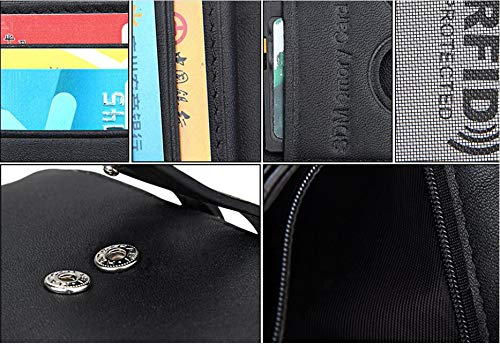 514a388e9196 Leather Men's Wallet Anti-RFID Head Layer Leather Wallet Leisure ...