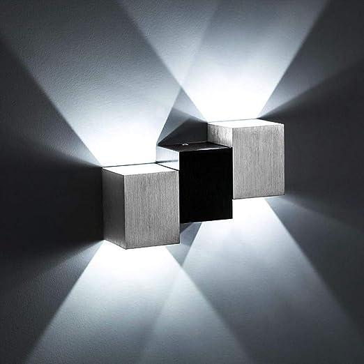SISVIV 6W LED Lampada da Parete Applique Interno Moderno Lampada da Muro in  Alluminio per Camera da letto Soggiorno Corridoio Scale Bianco Freddo