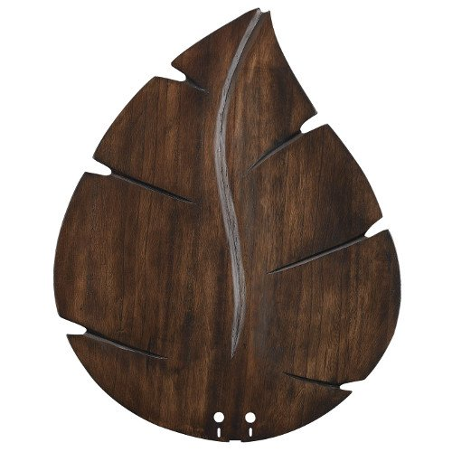 Fanimation B5280WA Wide Oval Leaf Carved Wood Blade, 22-Inch, Walnut