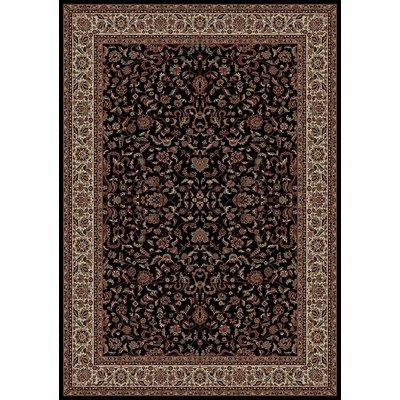 - Oriental Classics Kashan Black Rug Rug Size: 2' x 3'3