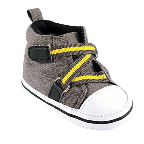 Luvable Friends Boy Zig Zag Hi-Top (Infant), Gray, 12-18 Months M US Infant (Top Shoes Baby)