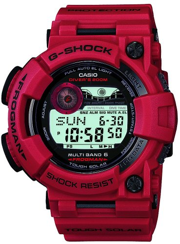 Japanese CASIO G-SHOCK FROGMAN GWF-1000RD-4JF Men in Burning Red Diving Japan