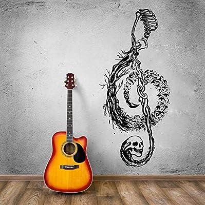 BRILLINT.YY Tatuajes De Pared Diseño De Calavera Nota Musical ...