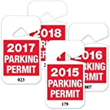 2018 PARKING PERMIT RED/WHT, #001-0502018 PARKING PERMIT 001-050