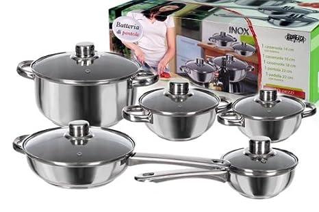 Tavoli Da Giardino Happy Casa : Set batteria 10pz acciaio c coperchio: amazon.it: casa e cucina