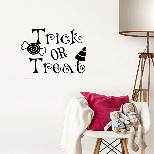 zyhpld Wall Art Stickers Trick or Treat for Living Room Halloween Home -