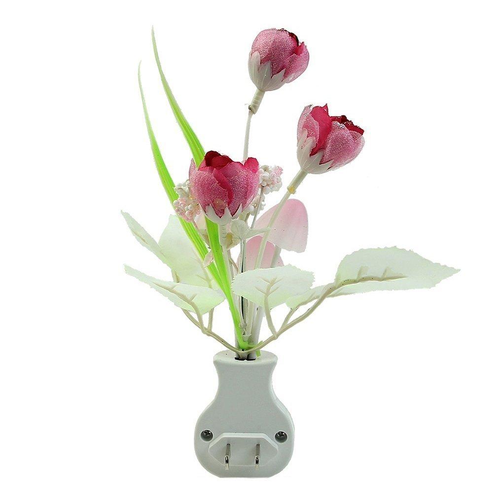 SODIAL(R) Kids Night light Color Changing Flower Plug In LED Mushroom Night Light Wall Lights