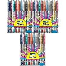Linc Shine Sparkle Glitter Gel Pen - Pack of 3 (30 Pens) Glitters Gel Pens - Genuine buy with E-Retail Deals