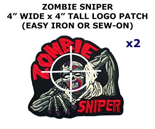 2 PCS Zombie Sniper Theme DIY Iron / Sew-on Decorative Applique (Zombie Costume Diy)