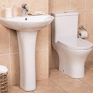 Toilette Stand WC Set Keramik + Spülkasten + Waschtisch Waschbecken ...