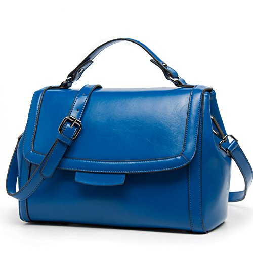 Fashions New simple Sapphire retro leisure handbag Single GMYAN Ladies blue Shoulder Satchel q4O5wxExX1