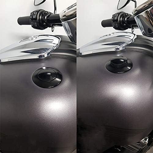 Tappi Serbatoio Carburante Filettatura in Senso Orario Apertura Tappo Serbatoio Carburante Prese daria per Harley Sportster Super Glide Touring Road King Cromo