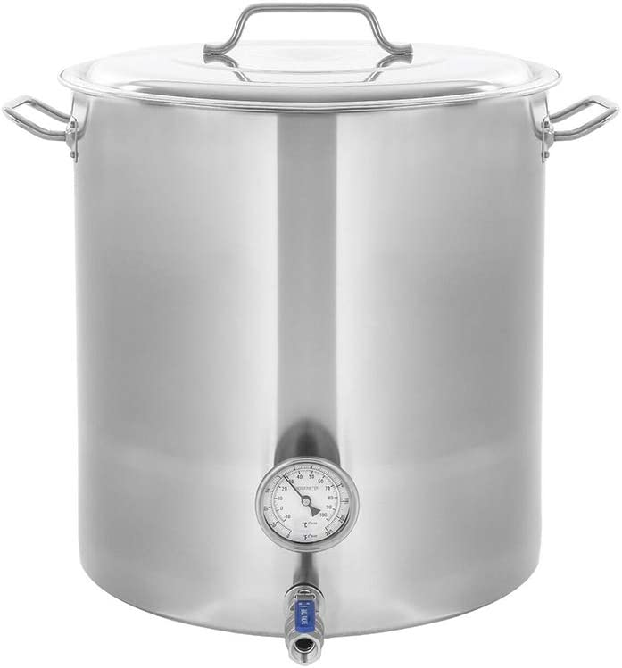 Thaweesuk Shop 80QT/20Gal Stainless Steel Home Brew Kettle Brewing Beer Wine Stock Pot 18