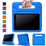 Surom Case for All-New Fire HD 8 2017 - Kids Shockproof Convertible Handle Light Weight Protective Stand Cover Case for Fire HD 8' Display Tablet (7th Generation, 2017 Release Only), Blue