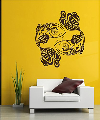 ik2541 Wall Decal Sticker fish catfish zodiac animals living room ()