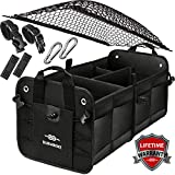 Durabenz Collapsible Car Trunk Storage Organizer for SUV Minivan Truck Sedan, Black