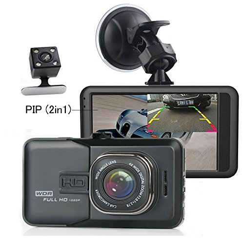 Dash Cam - Camecho Dual Lens Car DVR Camera 1080P Full HD Video Recorder...