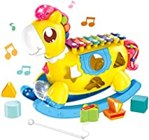 UNIH Baby Xylophone Musical Toy with Shape Sorter Toy for Toddler ,Baby and Infant 1,2,3,4, Years Old Boys and Girls
