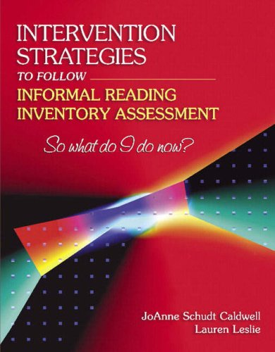 Download Intervention Strategies to Follow Informal Reading Inventory Assessment: So What Do I Do Now? PDF