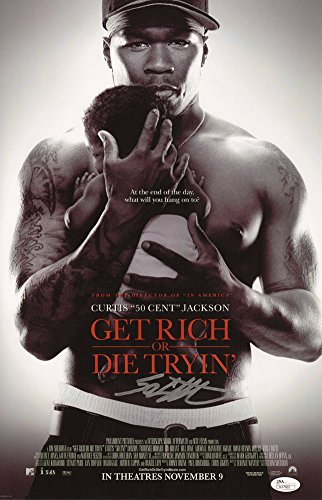 Autographed 50 Cent Signed Get Rich Or Die Tryin' 11X17 Movie Poster - JSA Certified