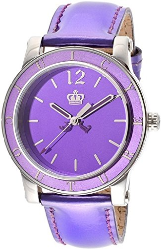 (Juicy Couture Women's 1900840 HRH Purple Mirror-Metallic Leather Strap Watch)