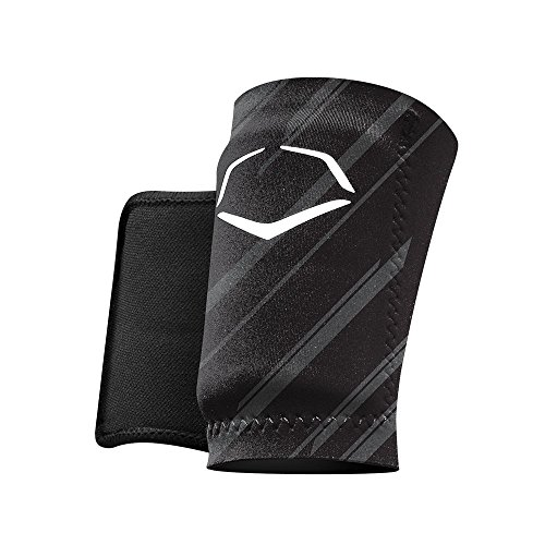 EvoShield MLB Protective Speed Stripe Wrist Guard, Black, Large