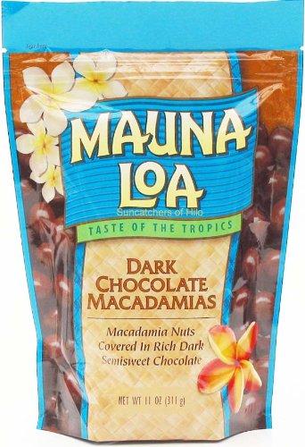 Mauna Loa Dark Chocolate Macadamia Nuts, 11-Ounce Bag (Pack Of 12)