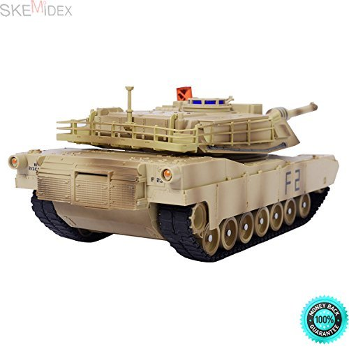 Abrams Remote Control RC Battle Tank Military Infrared Shooting And remote control construction toys for adults And hobby toys for adults And remote control gadgets for adults ()