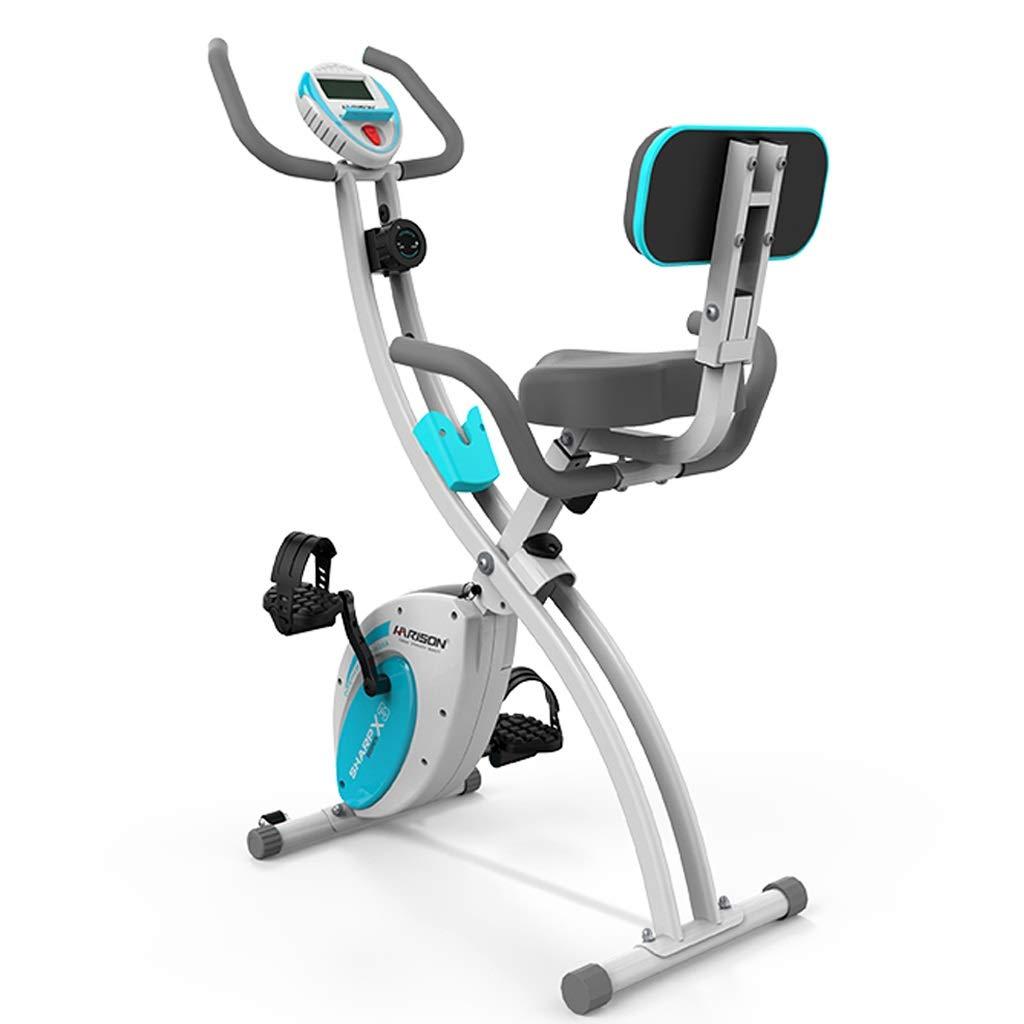 フィットネスバイク スピニングバイク ホーム磁気エクササイズバイク 超静音屋内エクササイズバイク オフィスステップバイク 多機能エクササイズバイク (Color : 青, Size : 98x54x113cm) 青 98x54x113cm