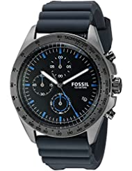Fossil Mens CH3063 Sport 54 Chronograph Gray Silicone Watch