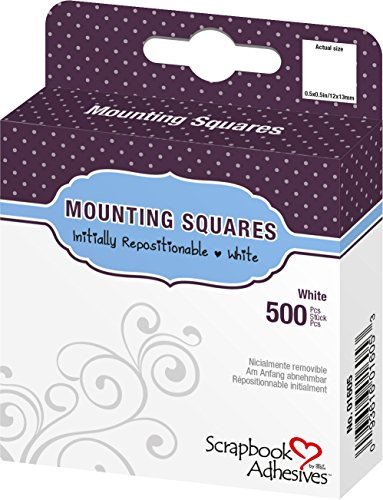 3L Repositionable Permanent Mounting Squares, 1/2-Inch x 1/2-Inch, 500pk, White