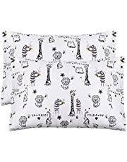 Baby Toddler Pillowcase,2 Packs 100% Cotton Pillow Cover for Kids Bedding,15x23 Pillowslip Case for Sleeping Fits Pillows Sized 13x18 or 14x19,Envelope Closure Travel Pillow Pillowcase