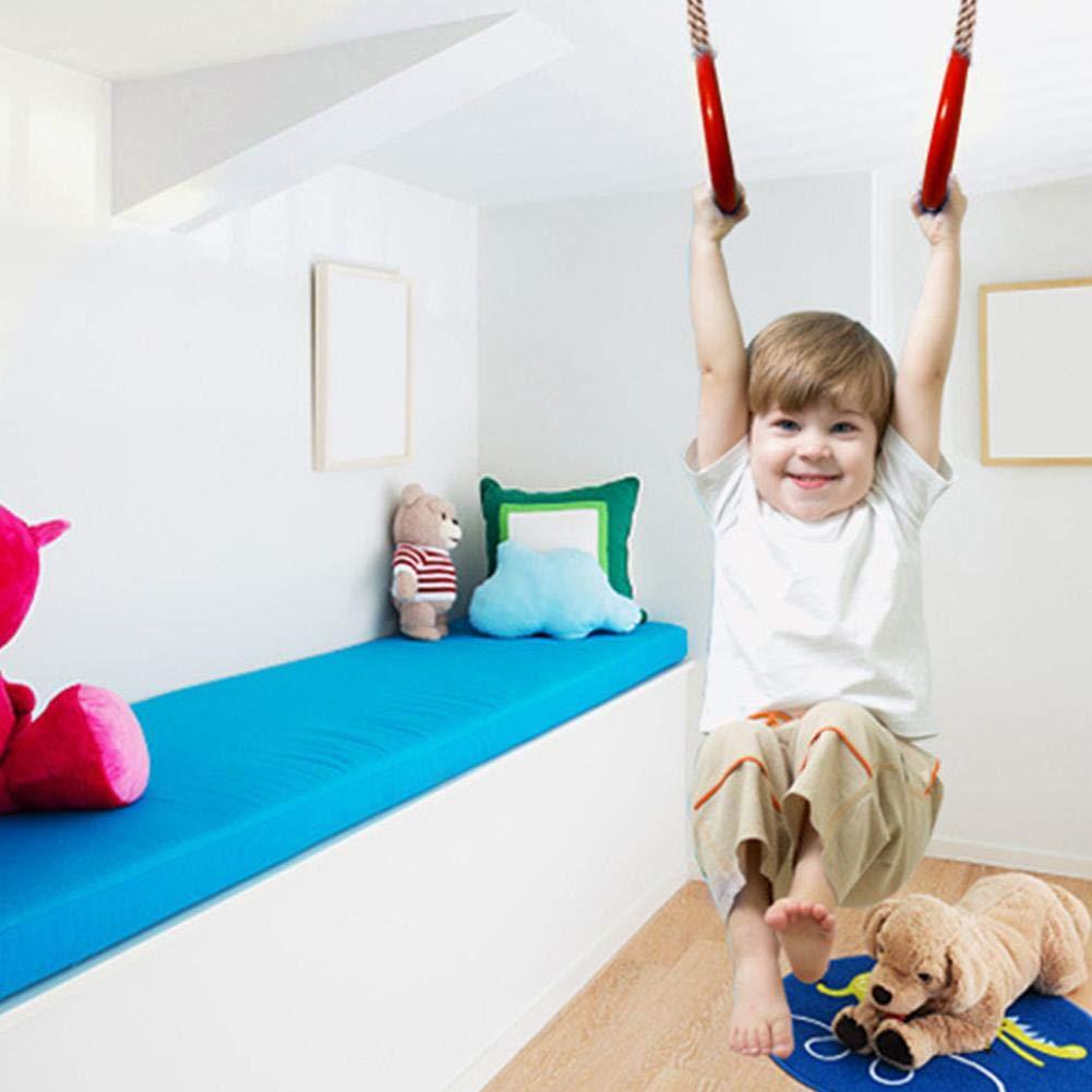 Parco Giochi Altalene per la casa Regolabile in plastica Fitness Sport Pull-up Indoor Outdoor Pull Ring Liteness Bambini Trapeze Bar Pull Up Gym Anelli